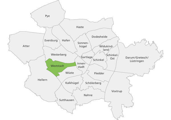 Spielplätze Osnabrück - Stadtteile Osnabrück