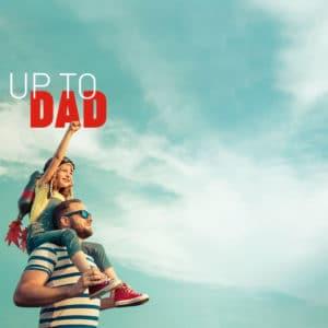 """""""Up to Dad – Buchrezension Header Grafik"""
